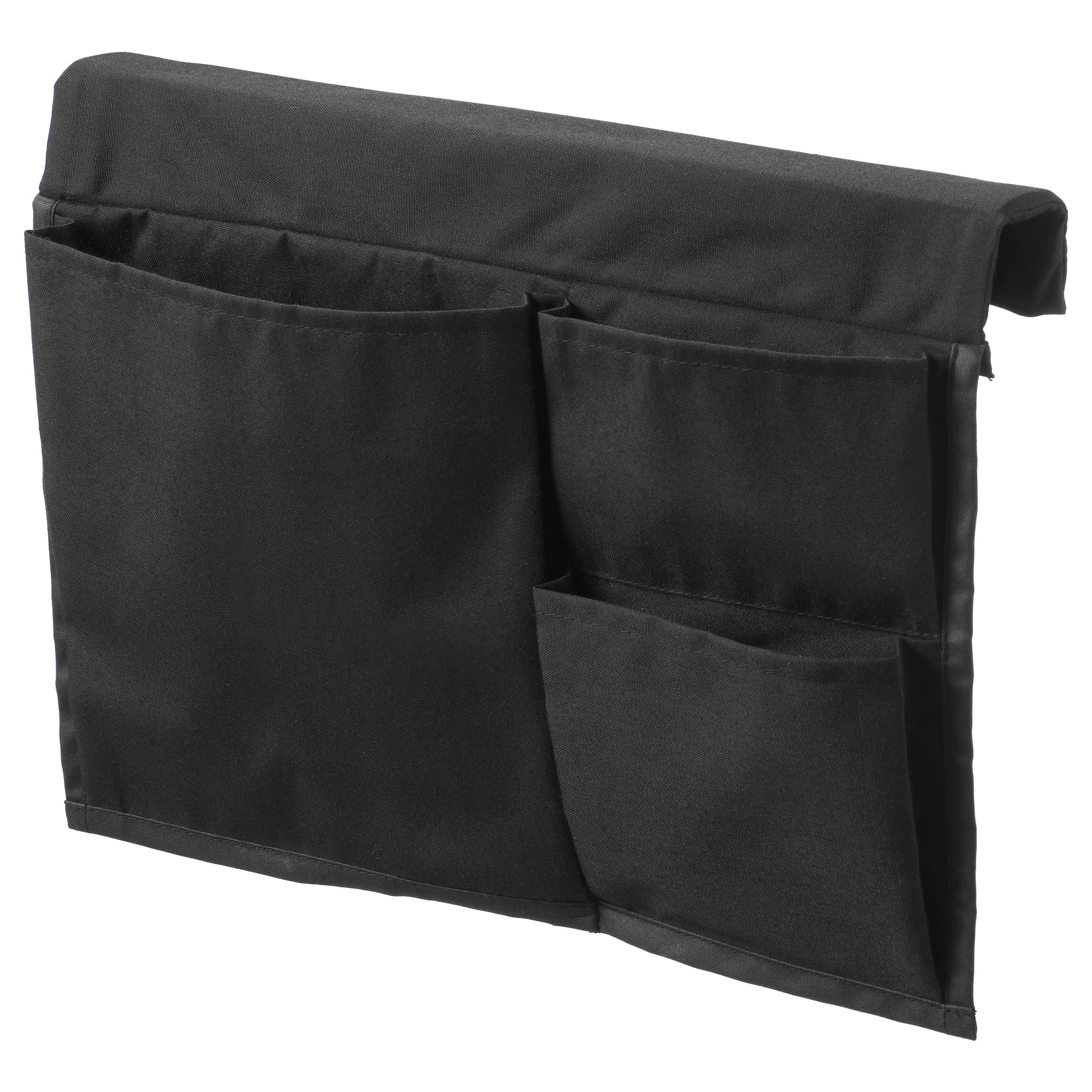 STICKAT Almacenaje bolsillos cama, negro 39x30 cm