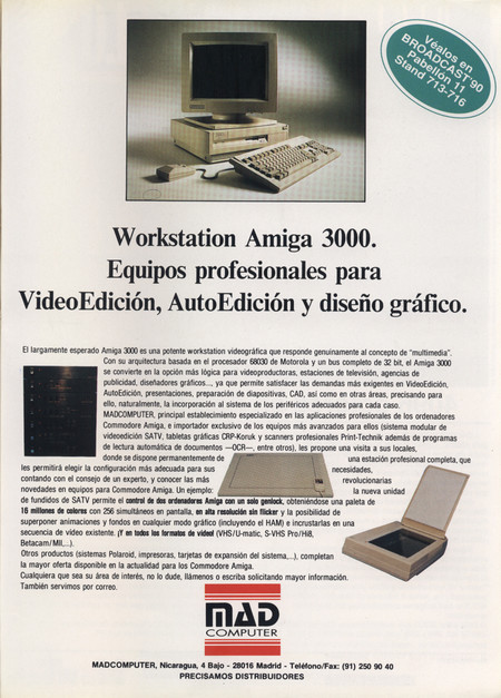 1990 Commodore Amiga 3000 Mad Computer Mayo 1990