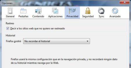 DNT en Firefox