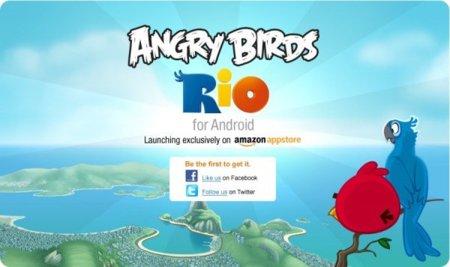 Angry Birds Rio en la Amazon App Store, en exclusiva