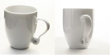 Una taza con pendiente