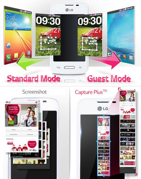 LG L35 Guest Mode y Capture Plus