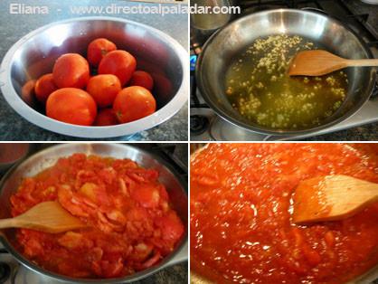 Receta r pida de salsa de tomate para pasta - Como se hace la salsa pesto para pasta ...