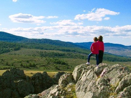 Montes Universales Teruel con niños