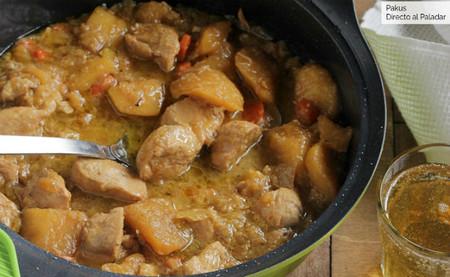 Guisado de pollo con sabor oriental, un original guiso listo en 30 minutos