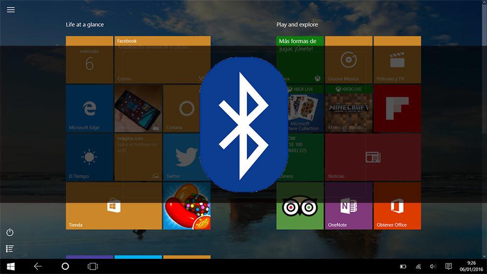 Conectando dispositivos por Bluetooth con Windows 10