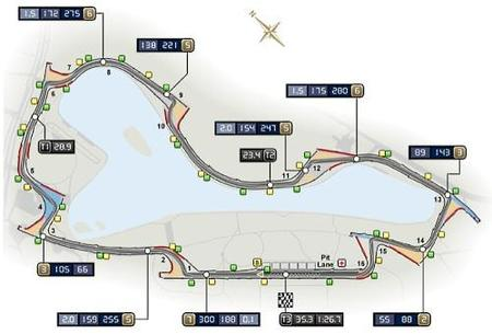 Croquis oficial de la FIA del circuito de Albert Park