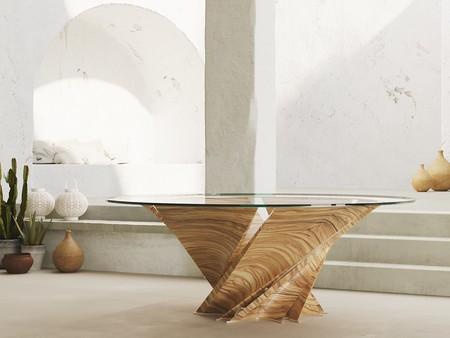 Natuzzi celebra su 60 aniversario con una edición limitada de la mesa Torsion, diseño de Mario Bellini
