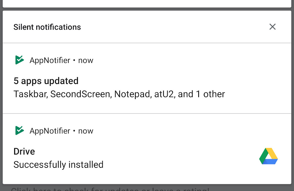 AppNotifier: an application that retrieves the notifications that it stopped displaying the Play Store
