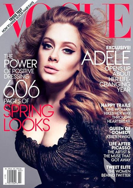 Pero qué divina Adele. Vogue, tú sí que sabes