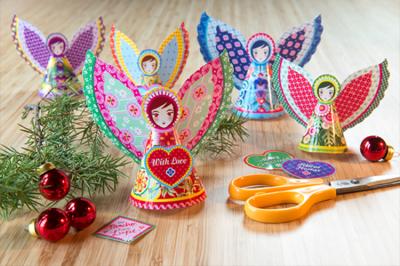 Preciosos ángeles imprimibles de Catalina Estrada para Navidad