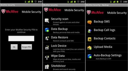 MacAffee Mobile Security