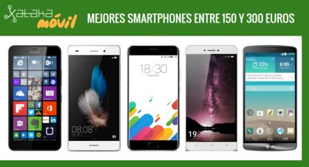Los mejores móviles entre 150 y 300 euros libres o con pago a plazos en operadoras