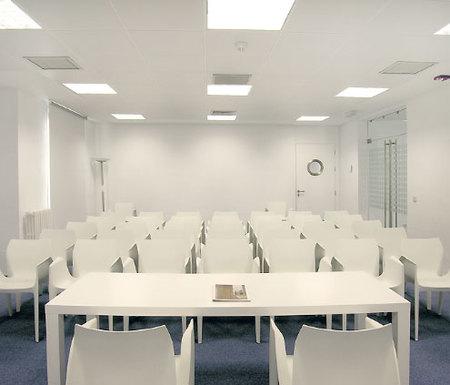 Una de las salas de reuniones de Idealista.com