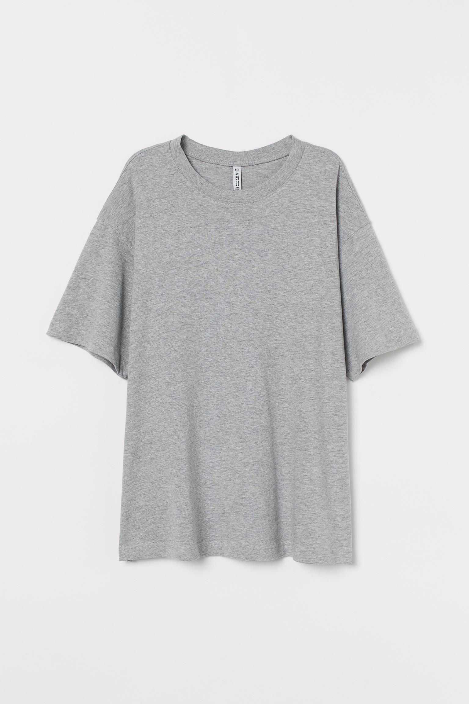 Camiseta amplia de algodón
