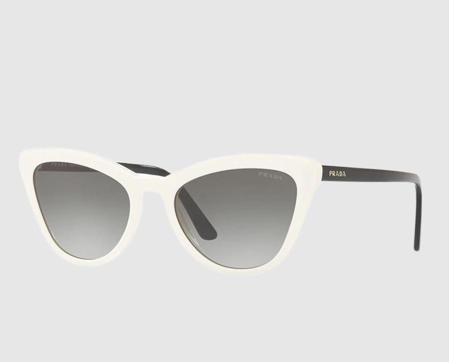 Gafas de sol de mujer Prada cat eye de acetato en blanco y negro
