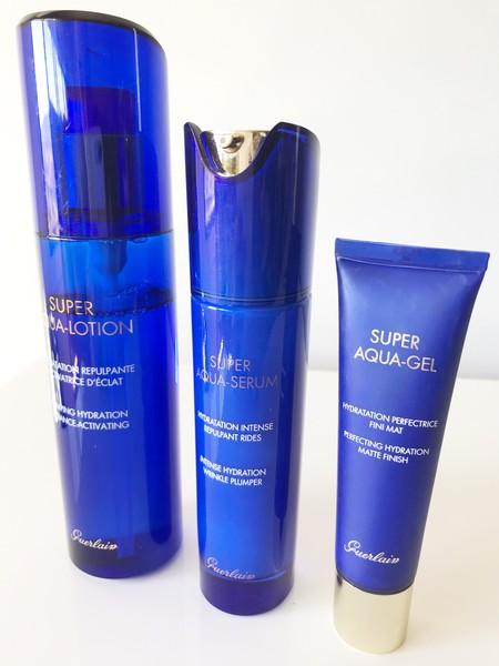 Probamos la línea Super Aqua de Guerlain que lleva la hidratación de la piel a un plano superior para una piel más bonita y luminosa