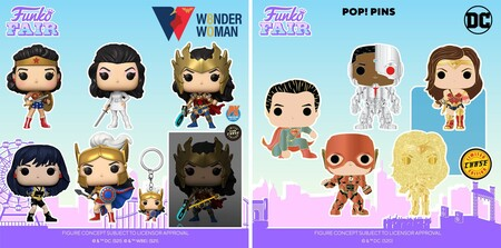 Figuras Funko POP y Pin de Justice League y Wonder Woman en preventa en México