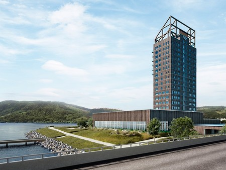 El edificio de madera más alto del mundo está en Noruega y será inaugurado en marzo