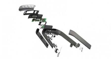 Vista de los componentes de la Jawbone UP3