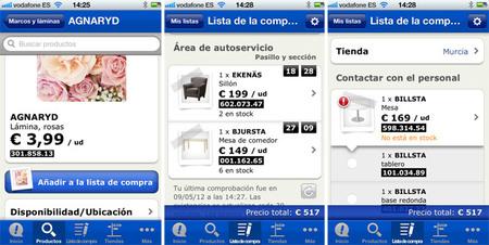 Aplicación de ikea para iphone y android, detalles