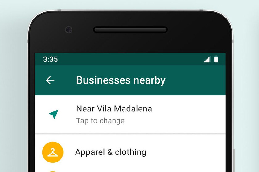 so you can chat with nearby businesses