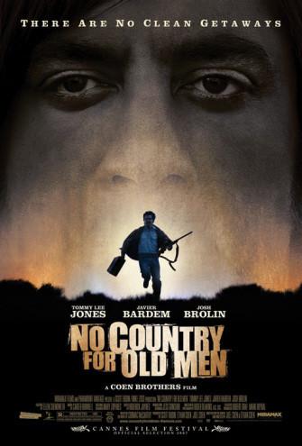 Póster de 'No Country For Old Men' de los Coen