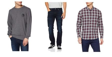 Chollos en tallas sueltas de pantalones, camisetas y sudaderas de marcas como Diesel, Levi's o Quiksilver en Amazon