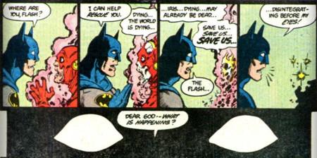 Flash y Batman en Crisis en tierras infinitas