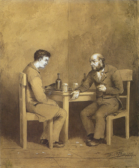 Klodt Michail Petrovich Raskolnikov And Marmeladov
