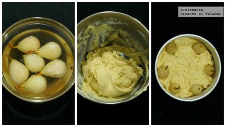Pastel de mantequilla y peras