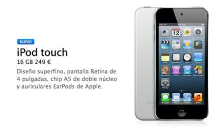 Apple lanza un nuevo iPod touch sin cámara trasera y con 16Gb de almacenamiento por 249 euros