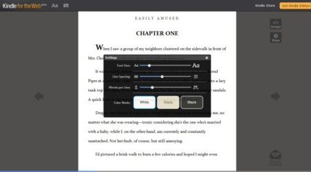 Kindle for the Web permite leer y compartir fragmentos de libros sin instalar nada
