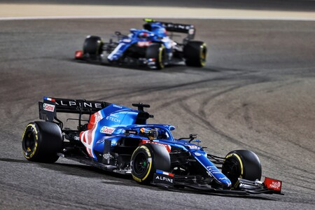 Alonso Ocon Barein F1 2021