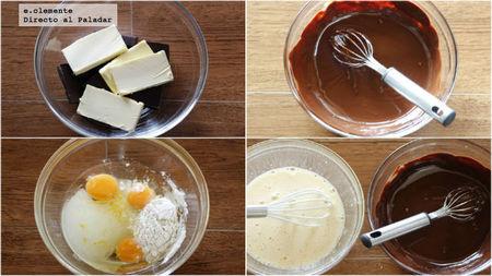 Brownie rápido al microondas