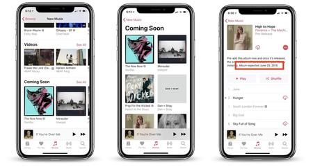 Apple Music tendrá una nueva sección llamada 'Próximamente' para compartir novedades de los artistas
