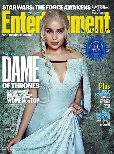 """Dame of Thrones"": portadas para todas con Emilia Clarke a la cabeza"