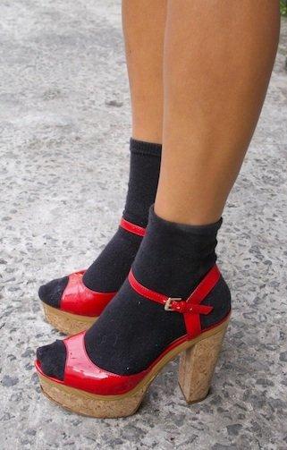 calcetines lurex
