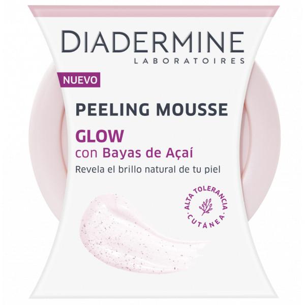 Diadermine - Peeling Mousse Baya De Açai, Revela el brillo natural de la piel y alisa, Mejora la hidratación de la piel, Todo tipo de piel