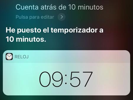 Siri Temporizador