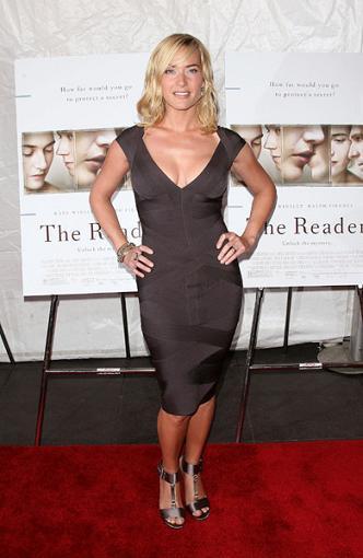 Las mujeres con curvas también visten de Hervé Léger, por Kate Winslet