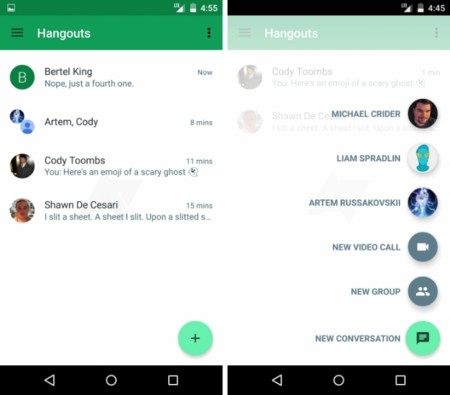 Hangouts 4.0 se deja ver con la esperada renovación de interfaz