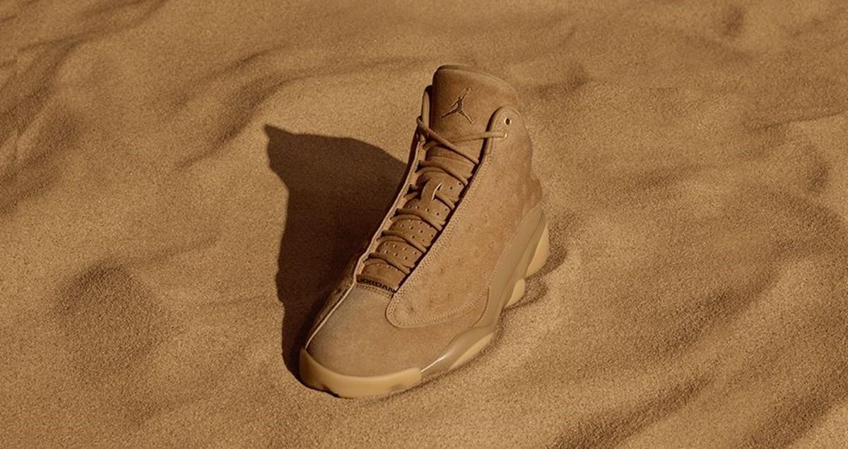 Ejercicio Viento fuerte ajustar  Las Air Jordan 13 Retro Wheat en un elegante color dorado por el sol