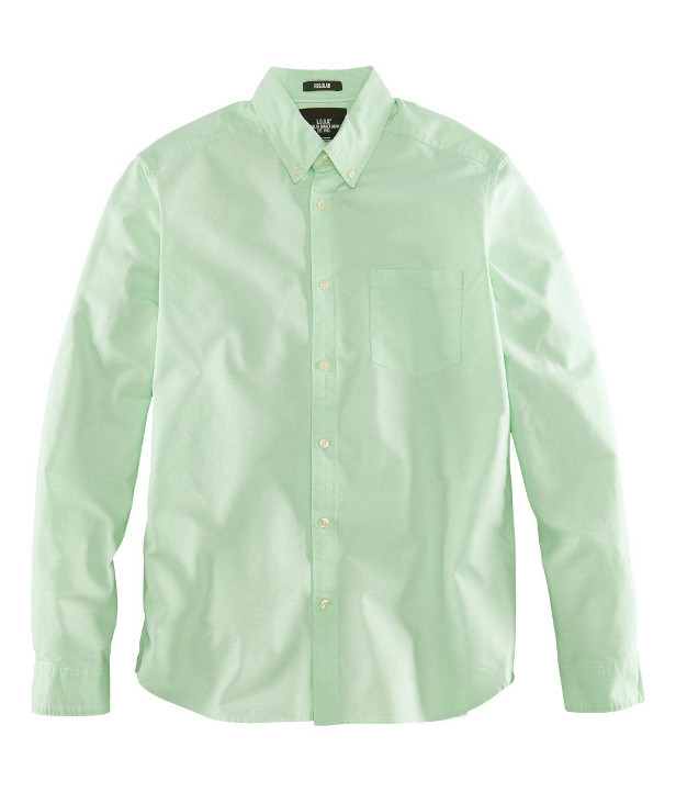 Camisa Oxford verde H&M