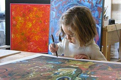Una pequeña Picasso de seis años
