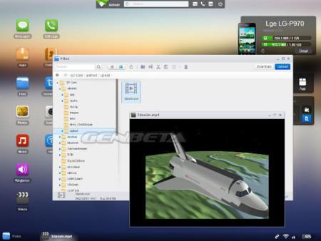 AirDroid 2.0 reproduciendo vídeo remoto
