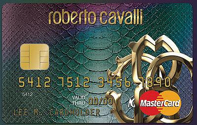 Tarjeta de crédito Roberto Cavalli, una Mastercard de diseño italiano