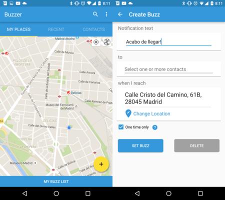 Buzzer, una aplicación que avisa a nuestros amigos cuando llegamos a un sitio en concreto