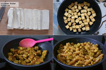 Tofu con Pasta de Lentejas. Pasos