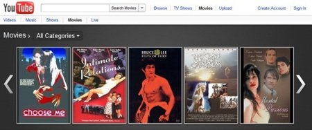 YouTube hace oficial su servicio de alquiler de películas